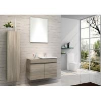 Buy cheap Hanging Bathroom vanity custom made grey Color Plywood board wall bathroom cabinets 80 X 45 / cm from wholesalers