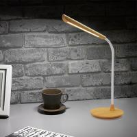 Wholesale Wooden Grain Decorative Led Desk Lamps Besides Table Light with Eye-Protected and USB Output Charging Port from china suppliers