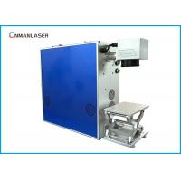 China Portable EZCAD Software CO2 Laser Marking Machine With Aluminum Alloy Table Rotary on sale