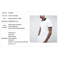 Wholesale clothing factory men white slim fit tennis polo shirt cotton with contrast rib and cuff from china suppliers