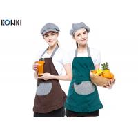 Wholesale Contrast Color Custom Embroidered Aprons Working Cooking For Coffee Shop from china suppliers