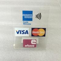 Wholesale wholesale plexiglass bank China UnionPay card desktop advertising sign from china suppliers