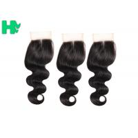 Wholesale Body Wave Human Hair Closure Pieces , Middle Part Remy Human Hair Extensions from china suppliers