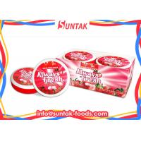 Wholesale Round White Strawberry Sour Fruit Candy , Low Calorie Hard Candy With Sugar Free from china suppliers