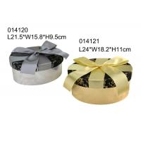 Wholesale Creative Decorative Chocolate Packing Boxes Satin Lining Round Shape CMYK Color from china suppliers