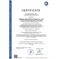 ZHEJIANG JIEDE PIPELINE INDUSTRY CO.,LTD. Certifications