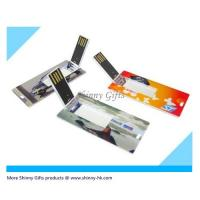 Wholesale Promo Gifts credit card style usb flash memory stick Mini Flip Card from china suppliers