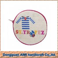 Wholesale AIMI New handmade craft cute needlepoint coin wallet with embroidery thread from china suppliers