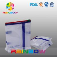 Wholesale Custom Size White Qual Seal Flat Bottom Gusset Pouch With Slide Ziplock For Food Packaging from china suppliers