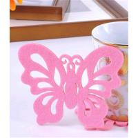 Wholesale 2016 Posavasos Drink Coasters Table Mat Fashion Felt Coasters / Styling Versatility Butterfly Elegantly Simple Household from china suppliers