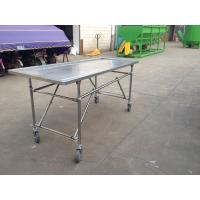 Quality Stainless Steel Movable Simple Body Dissecting Table with Four Wheels for sale