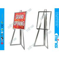Wholesale Mordern Chrome Metal Floor Stand Sign Holder, Top Loading Poster Holder from china suppliers