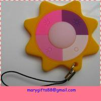 Quality cute star design UV PVC rubber key chain holder for sale