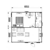 Wholesale Layout of Custom made Modular Container Chalet - Portable, One Bedroom with Living Area from china suppliers