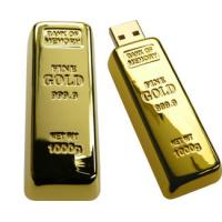 Wholesale Golden Bar Thumbdrive Metal USB Flash Drives with Logo Printed from china suppliers