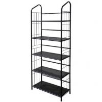 Wholesale Powder Coating Chrome Plated Metal Frame Bookshelf Black For Library from china suppliers