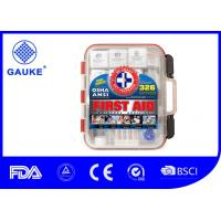 Wholesale First Aid Kit Hard Red Case 326 Pieces Exceeds OSHA and ANSI with Wall Amounted from china suppliers