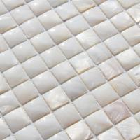 Wholesale Handmade Beautiful Sea shell Mosaic Freshwater Shell Mosaic with Convex Surface 20x20mm from china suppliers
