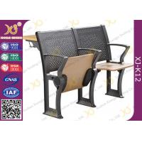 Wholesale Metal / Plywood Structure College Classroom Furniture With Folding Tablet from china suppliers