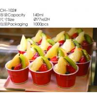 Wholesale Food Grade Red 140ml Plastic Packing Container Disposable Ice Cream Bowls from china suppliers