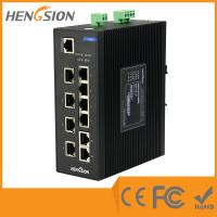 Wholesale 8E + 2G Fiber Network Switch , 8 100M TX Ports + 2 100 / 1000M TX Ports Industrial Switch from china suppliers