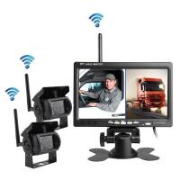 Wholesale Wireless reversing camera for heavy duty truck, OTR 7inch two channels from china suppliers