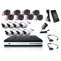 Wholesale 2.0MP P2P HD DVR Kit 8PCS Bullet Camera 18m Cable All In 1 Package from china suppliers