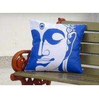 Wholesale blue Buddha Face Sofa Throw Pillows / Azo free outdoor pillow cushions from china suppliers