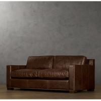 Wholesale Three Seater Upholstered Leather Living Room Sofa with Country Antique Vintage Style from china suppliers