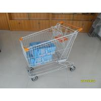 Wholesale Asian Type 180L Supermaket Wire Shopping Cart Trolley With Orange Baby Seat from china suppliers