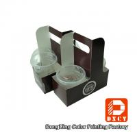 Wholesale Eco Friendly Take Away Food Packaging , Soy Ink Printing Fancy Paper Coffee Cup Holder from china suppliers