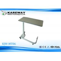 Quality Durable Medical Bedside Table, Hospital Over The Bed Tables With Wheels,Stable Base Frame KJW-MT06 for sale