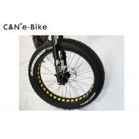 Quality DNM Front Fork Electric Fat Tire Snow Bike With Electric Motor 4 - 6 Hours Charging Time for sale