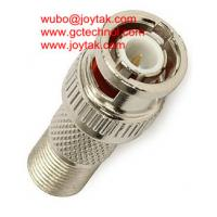 Wholesale Coaxial Adapter Coaxial Adaptor BNC Male To F Female Screw On CCTV Connector / BNCM.FF.01 from china suppliers