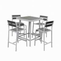 Wholesale Bar table set, done with powder coating, suitable for indoor and outdoor use from china suppliers