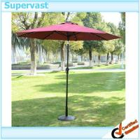 Wholesale Multi Color Solar Patio Umbrella , Stainless Steel Pole LED Beach Umbrella from china suppliers