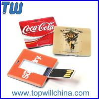 Wholesale Plastic Square Card Usb Flash Drives with Both Side High Quality Digital Printing from china suppliers