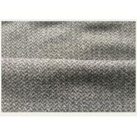 Little Herringbone Jacquard Wool Fabric ,  Wool Herringbone Fabric Wrinkle Resistant