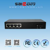 Buy cheap Brand new CE 25kms, single mode, 5ports Fast Ethernet Optical Switch 1*9 FX and 4*100M RJ45 FE (auto 10/100M),Metal case from wholesalers