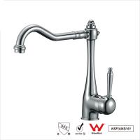 Wholesale Watermark Single Handle Water Faucet , Bathroom Basin Water Ridge Tap from china suppliers