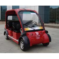 Buy cheap Dongfeng Red Security 4 Seat Electric Car Passenger Vehicle With Light / 3.0KW Motor from wholesalers