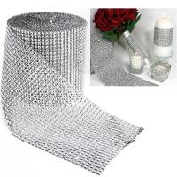 Wholesale Wholesale Imitation Rhinestone Mesh Round Shape Plastic Mesh 24ROW 12ROW 8ROW 6ROW from china suppliers