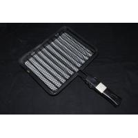 Wholesale Ivory White Porcelain Enameled Folding / Trolley Ceramic Barbecue Charcoal Grill Grids from china suppliers