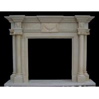 Wholesale Wall Inserts White Fireplace, Modern Marbe Fireplace mental from china suppliers
