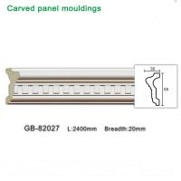 Wholesale 2400mm White PU carving Panel moulding ceiling corner for interior decoration from china suppliers