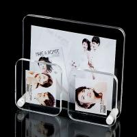 Wholesale Office Clear plastic photo frames Lightweight with 3 picture holders from china suppliers