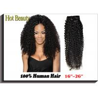 Wholesale Kinky Style Curly Weave Natural Black Virgin Human Hair Extensions Can Be Dyed Ombre Color from china suppliers
