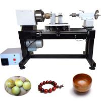Wholesale KC120 Mini CNC Wood Turning Lathe Machine making wooden round beads from china suppliers