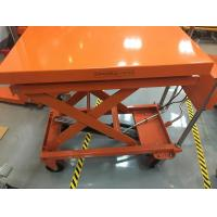 Wholesale Four Wheels Mobile Lift Table With Scale , Hydraulic Table Lift Jack Cart from china suppliers