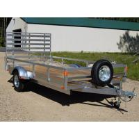 Wholesale High Sides 400mm 7x4 Tandem Axle Aluminum Utility Trailer For Household from china suppliers